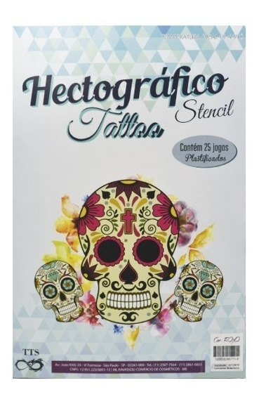 Papel Hectográfico Decalque Tattoo Tatuagem Tts C/25 Folhas