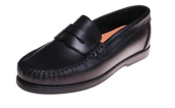 Zapato Nautico Colegial Cuero 603