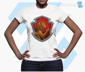 4 Camisetas Harry Potter Casas Hogwarts Feminina Babylook