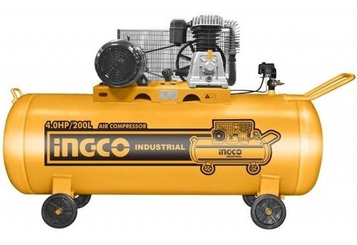 Compresor De Aire Ingco 4 Hp 200 Lts Industrial Ac402001 Ff