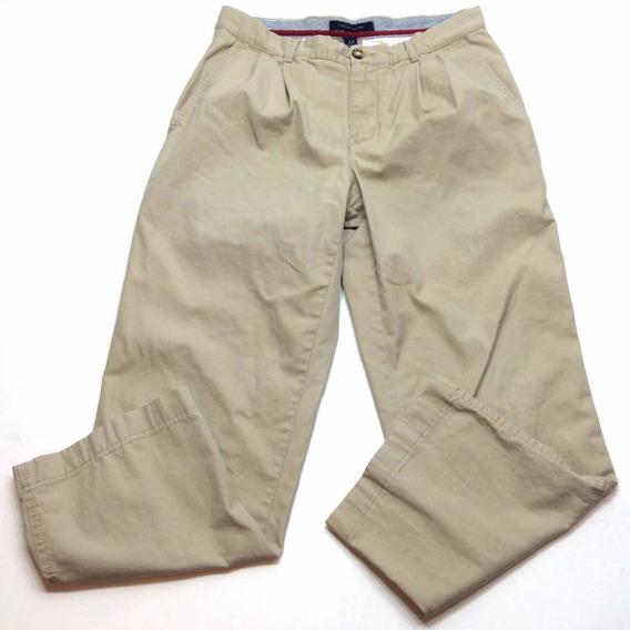 Pantalon Tommy Hilfiger Gabardina De Vestir Usa Talle 30