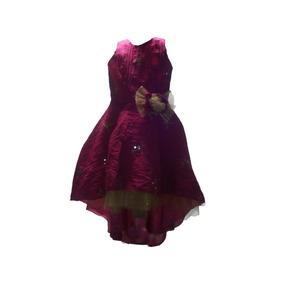 Vestido De Niña Fucsia Asimetrico, Fiesta O Graduacion
