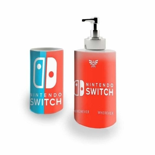 Kit Saboneteira + Porta Escovas Nintendo Switch (bd01)