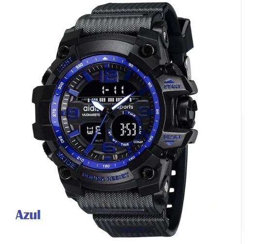 Moda Relógio Estilo Militar Watche À Prova D