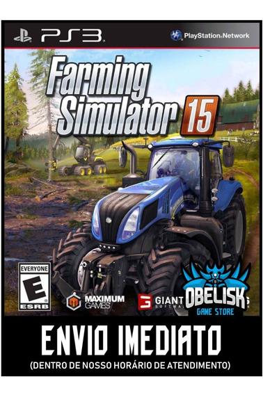 Farming Simulator 15 Ps3 Psn Envio Imediato Legendado Português