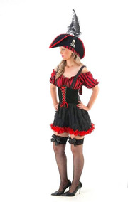 Fantasia Pirata Luxo Adulto Feminino