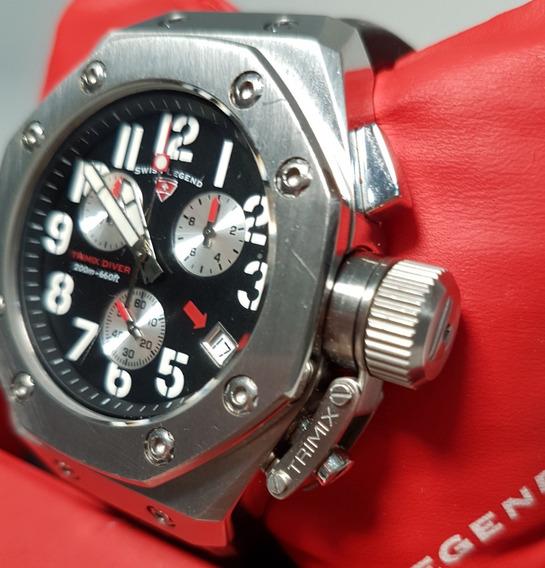 Relógio Masculino Swiss Legend Trimix Diver À Prova D