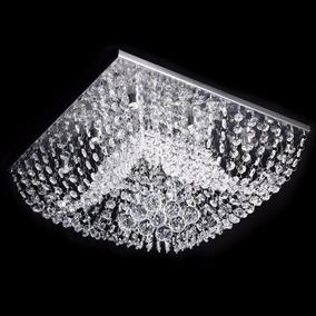 Lustre Cristal Original Plafon Quadrado 40cm