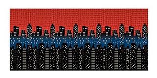 City Scene Designaroom Background 8 Pies X 30 Pies 2 Piezas