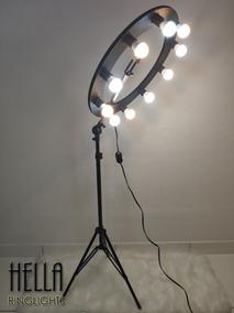 Ring Light 10 Preto Reclinável (suporte De Celular + Tripe)