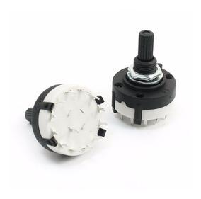 Chave Rotativa 1 X 2 Até 1 X 12 Rotary Switch - 3 Peças