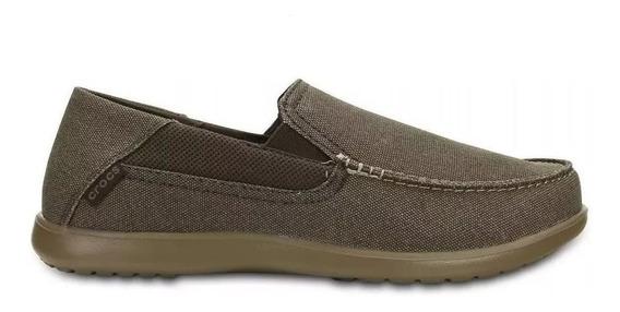 Crocs Originales Santa Cruz 2 Luxe Marron Hombre 202056 C23b