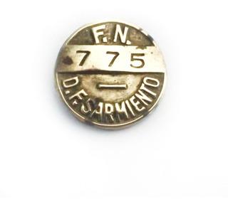 Prendedor Pin Ferrocarril Sarmiento - Bronce - Años 50
