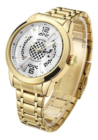 Relógio Masculino Weide Analógico Se0703 - Dourado