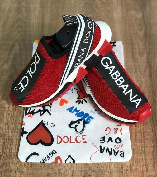 Tênis Dolce & Gabbana Unissex Frete Grátis Promoção Vermelho