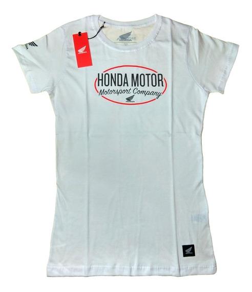 Remera Honda Lady Logo W19 Original - Mobi Motos