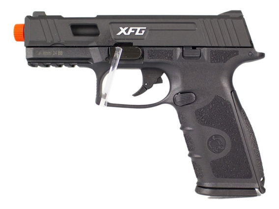 Pistola Airsoft Gbb Ics Black Leopard Preta Ble-xfg 6mm