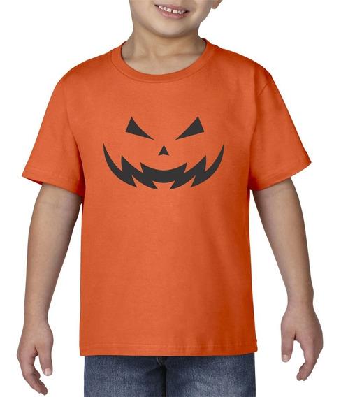 Camiseta Playera Bebe Niño Halloween Calabaza Terror