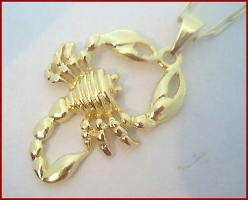 Pingente Escorpião Prata C/ B. Ouro 18 K