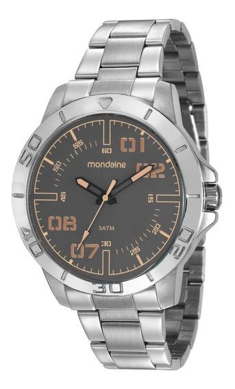 Relógio Masculino Mondaine Ne2 Premium Gray New Stile Promo
