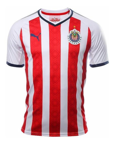 Jersey Playera Puma De Chivas Del Guadalajara De Local 2018.