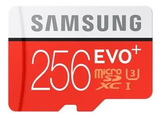 Cartão Samsung Micro Sd 256gb Evo Plus 4k