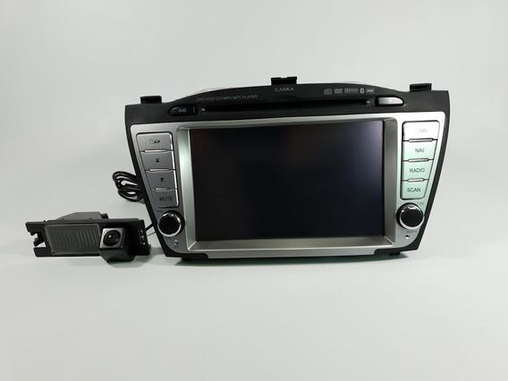 Central Multimídia Caska Ix35 Com Câmera De Ré Dedicada
