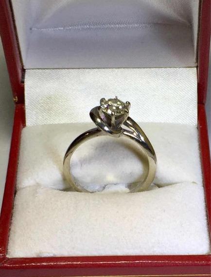 Anillo Compromiso Oro 14k Diamante 65 Puntos .65 Quilates