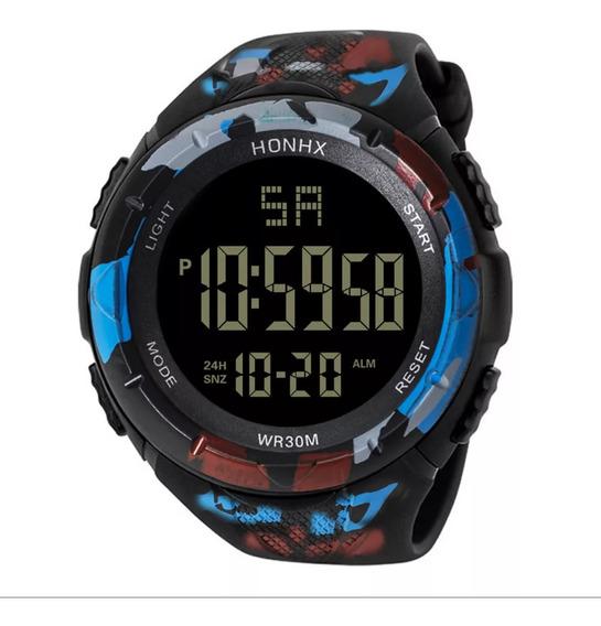 Relógio Digital Camuflado