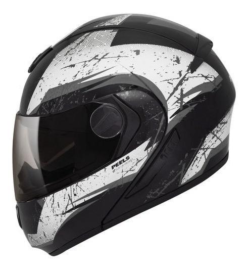 Capacete Moto C Oculos Peels Urban Wolf Robocop Preto