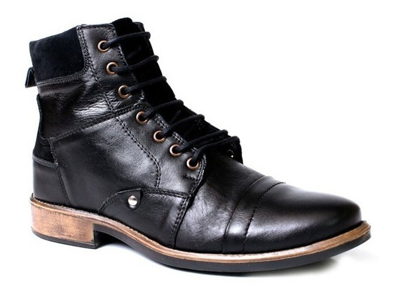 Bota Casual Coturno Couro Legítimo Tchwm Shoes 480 Original