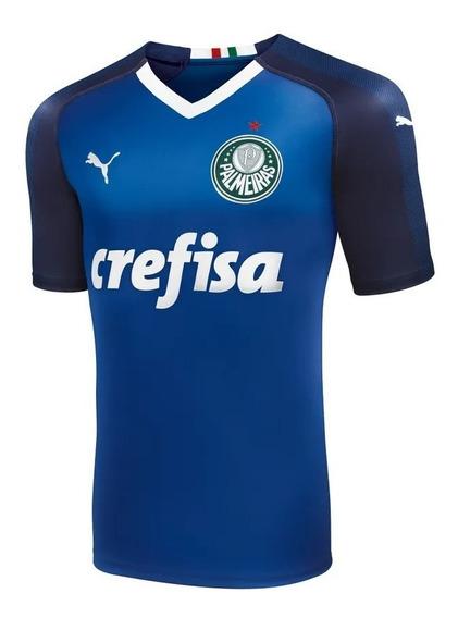 Camisa Palmeiras Goleiro Puma Azul Vermelha Promoção