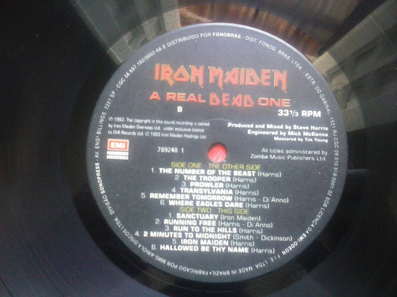 Iron Maiden A Real Dead One Lp Sem A Capa