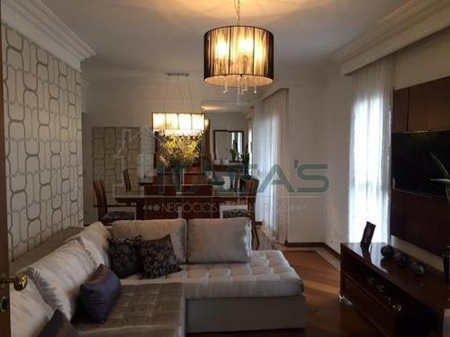 Apartamento Mobiliado Com 3 Dormitórios À Venda, 129 M² Por R$ 650.000 - Parque Das Nações - Santo André/sp - Ap4239