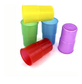 10 Vasos De Plastico Reutilizables Europeos Casi 1 Litro