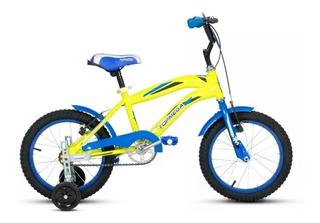 Bicicleta Cross Top Mega R16 Varon + Luz + Rueditas + Envios