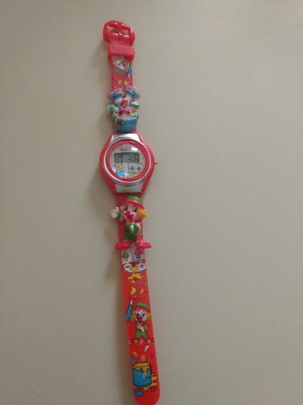 Mini Relógio Infantil Patati Patatá/prova Dágua/novo/vermelh
