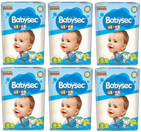 Kit Com 6 Pacotes Fraldas Babysec Ultrasec Atacado Barato