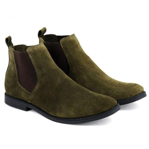 Botina Chelsea Boots De Couro Legítimo - Frete Grátis