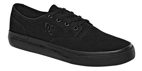 Sneaker Deportivo Dc Shoes Textil Negro Niño Flash 79216ipk