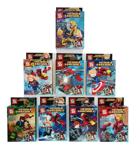 Lego Vingadores Ultimato 406+pcs Kit 8 Modelo Diferente 8em1