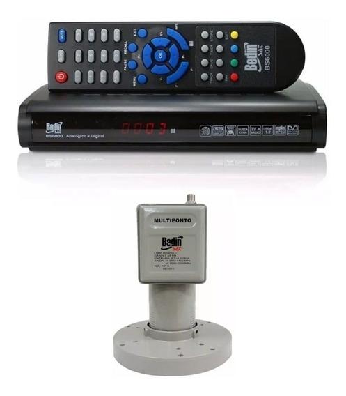 Receptor Digital Bs 6000 Lnbf Multiponto E Cabo