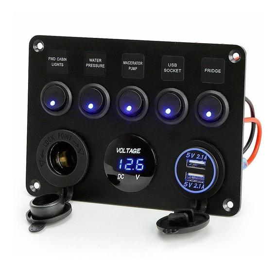 Rupse5gang Toggle Switch Panel Dual Usb Socket Cargador