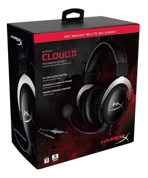 Audifonos Hyper X Cloud2 Gaming Diadema Gun Metal Gamer