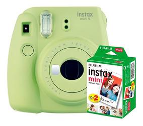 Câmera Instantânea Instax Fujifilm Mini 9 Lima + Filme 20