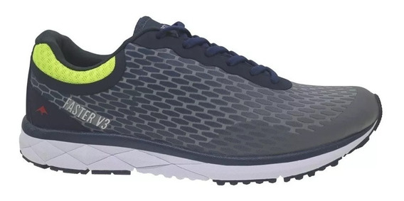 Zapatillas Running Montagne Smooth Ride Negro Y Gris