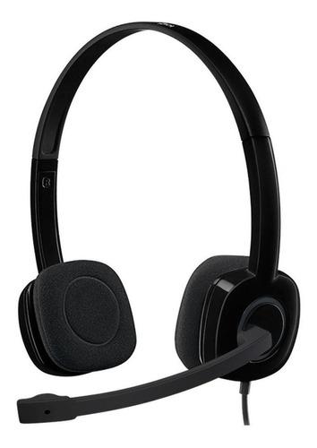 Imagen 1 de 3 de Audífonos Logitech H151 negro