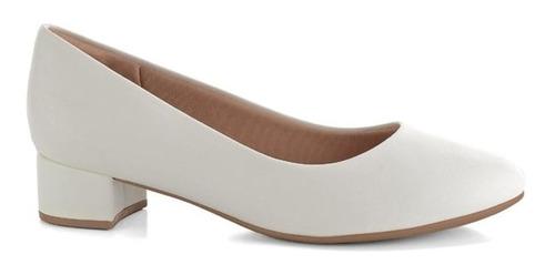 Sapato Feminino Piccadilly S/ Baixo Conforto 140110 Branco