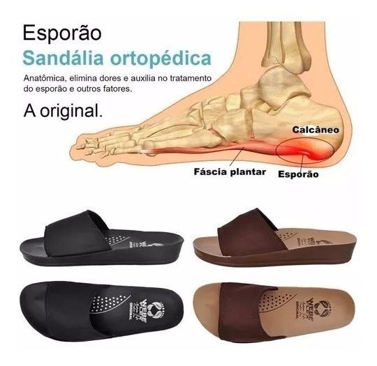 2 Pares Sandália Original Antis-stress Ortopédica