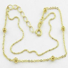 Pulseira Feminina 18/22cm Folheada Ouro Pl432